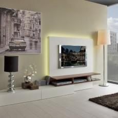 Comedor de diseño moderno con luz LED integrada en el panel