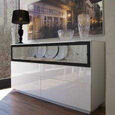 Aparador moderno con puerta de cristal