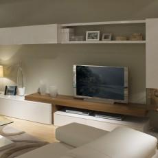 Mueble de salón con vitrina