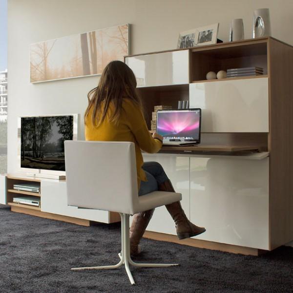 Mueble de diseño con módulo versátil y bandeja extraible