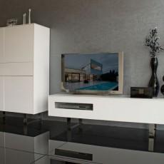 Aparador de diseño y módulo TV con patas cromadas